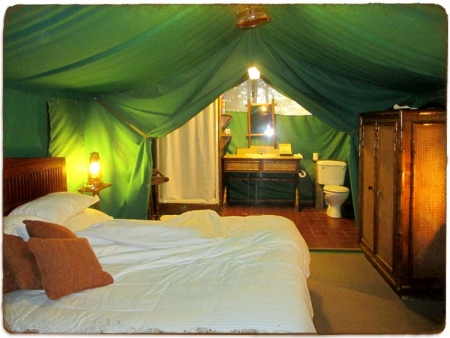 Sweetwater Tented Cabin Interior