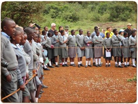 Schoolchildren at Elephant Orphanage