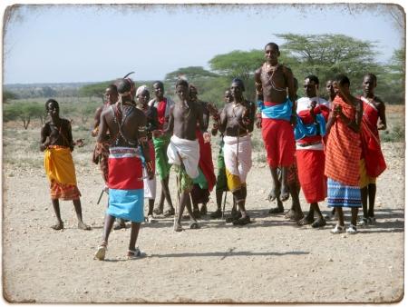 Samburu Men Dancing